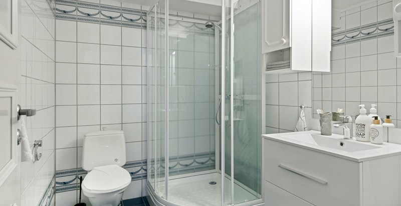 Ett av to bad (konstruksjon fra byggeår)