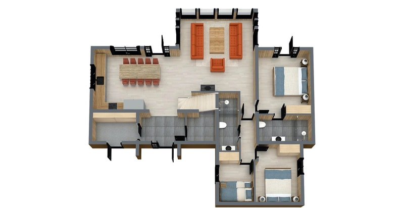 Planløsning plan 1 Kikut Pluss 174