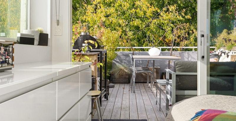 Hovedsoverom med utgang terrasse