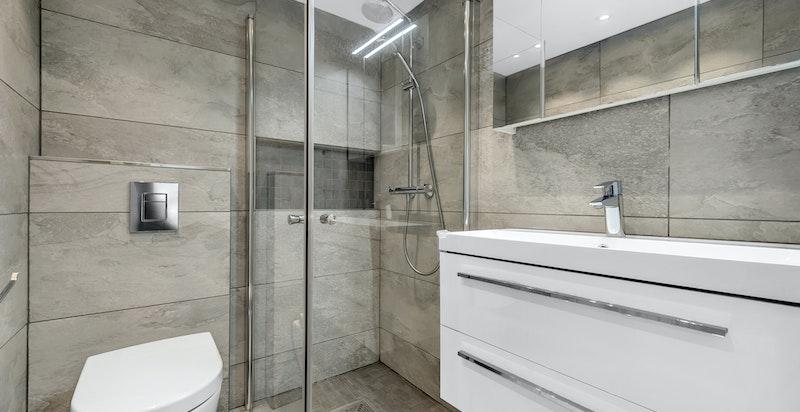 Dusjbad/wc med baderomkonstruksjon fra 2017