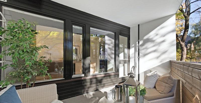 Overbygget terrasse ca 10 kvm