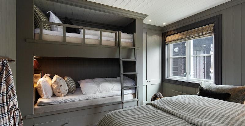 Soverom 3 med plassbygget køyeseng