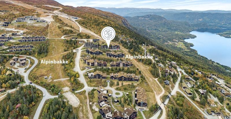 Beliggende midt i bakken på Norefjell