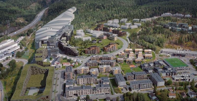 Silkeføret ligger rett ved SNØ skihall og ved grensen til Oslo
