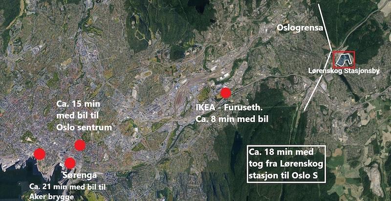 Nærhet til Oslo.