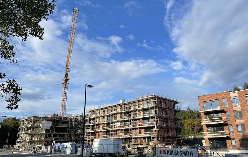Bilde tatt fra byggeplassen 16.08.21.