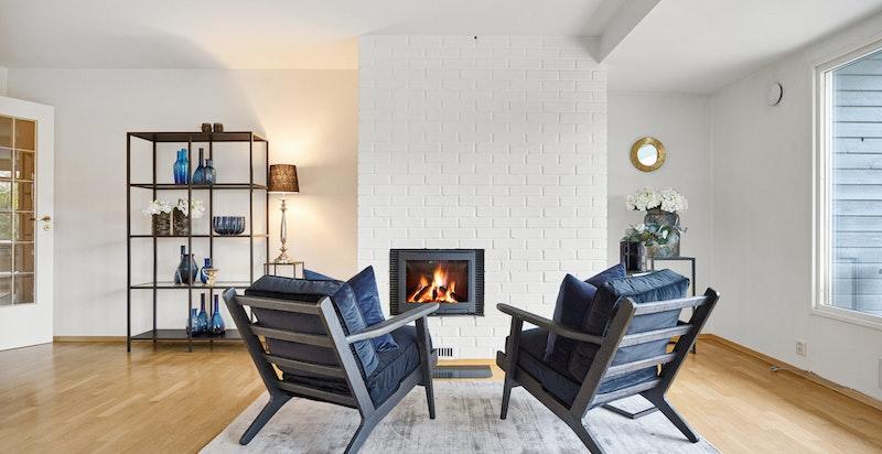 Peisovn i stue sikrer lune høst- og vinterkvelder.