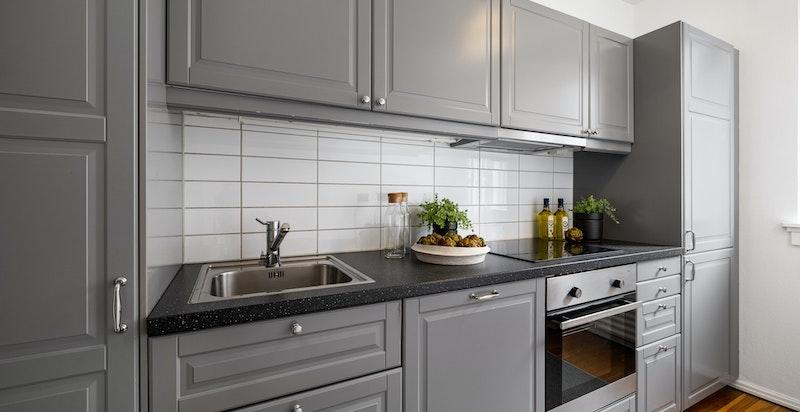 Kjøkken med nyere innredning fra 2014