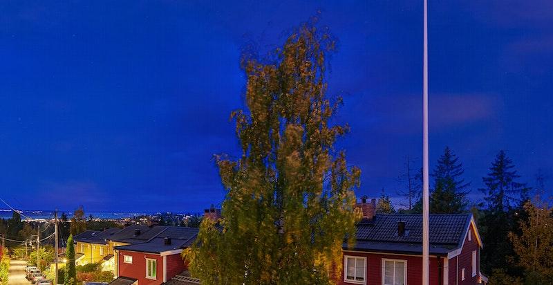 Vakker utsikt som strekker seg mot Oslofjorden.