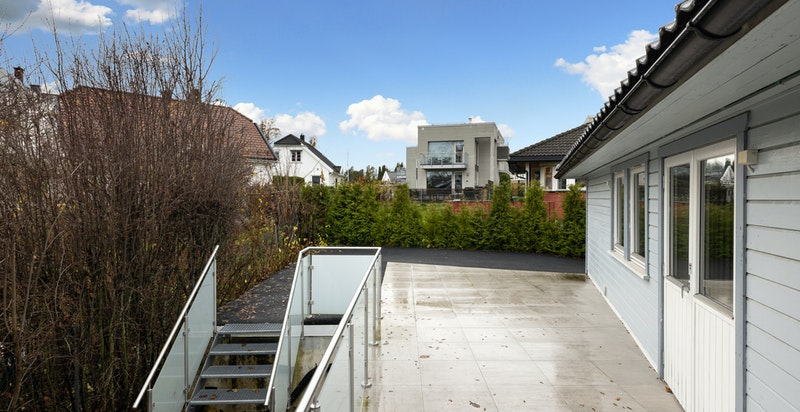 Terrassen ble betydelig oppgradert i 2018