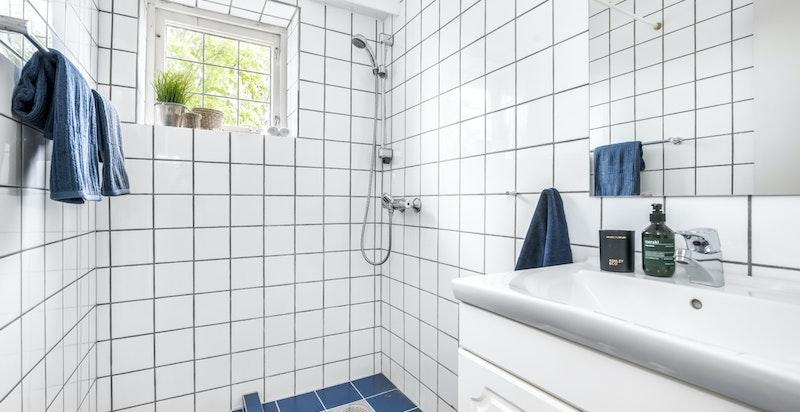 Dusjbad/wc i tilleggsdel