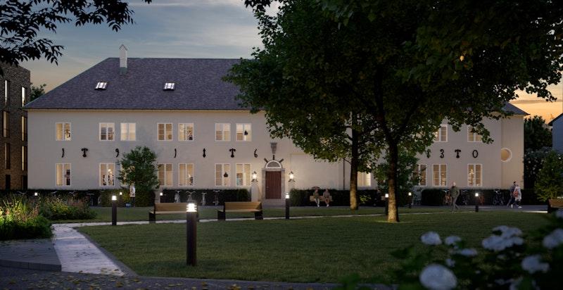 Administrasjonsblokkas klassiske fasade i nordisk nybarokkstil ble tegnet av den anerkjente arkitekten Magnus Poulsson som også har tegnet Oslo Rådhus m.m.