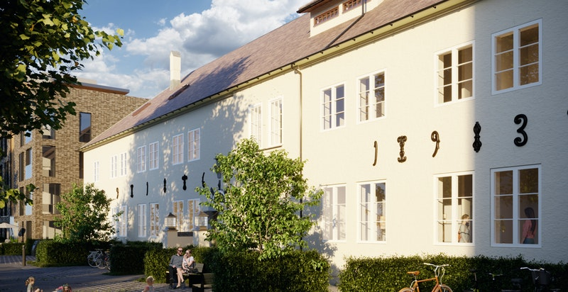 Administrasjonsblokka blir rehabilitert til moderne leiligheter.