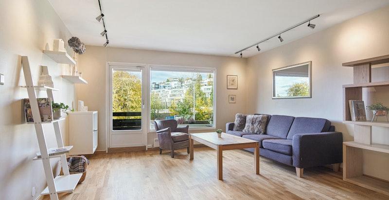 Stue med utgang terrasse