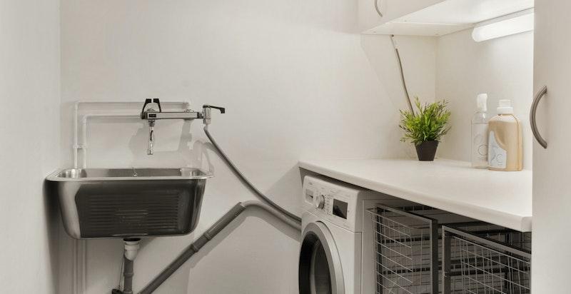 Praktisk vaskerom