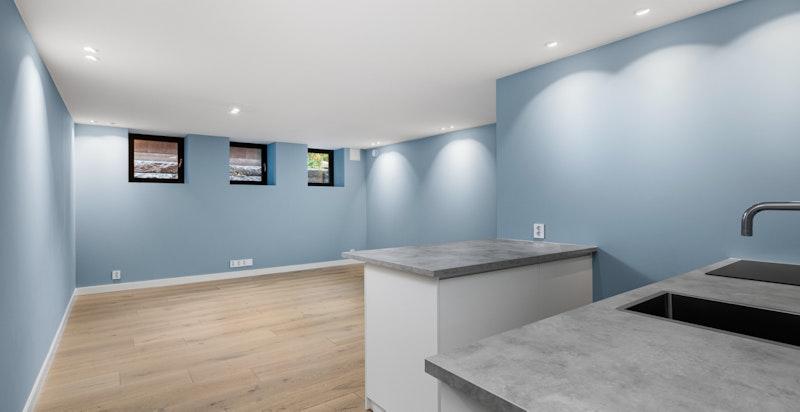 Kjøkken/stue i praktikantdel