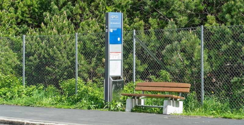 Bussforbindelse like nedenfor boligen. Buss nr. 69 tar deg raskt til Haugerud T-bane.