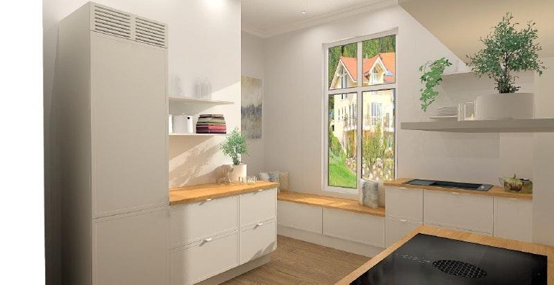 Tegninger av nytt kjøkken