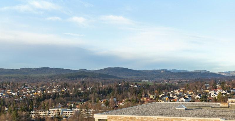 Utsikten nordover