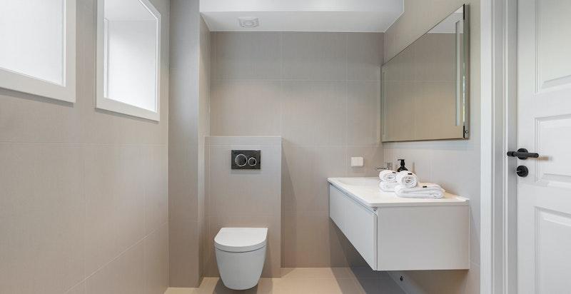 Nytt lekkert dusj/bad/wc i tilknytning til soverom 2