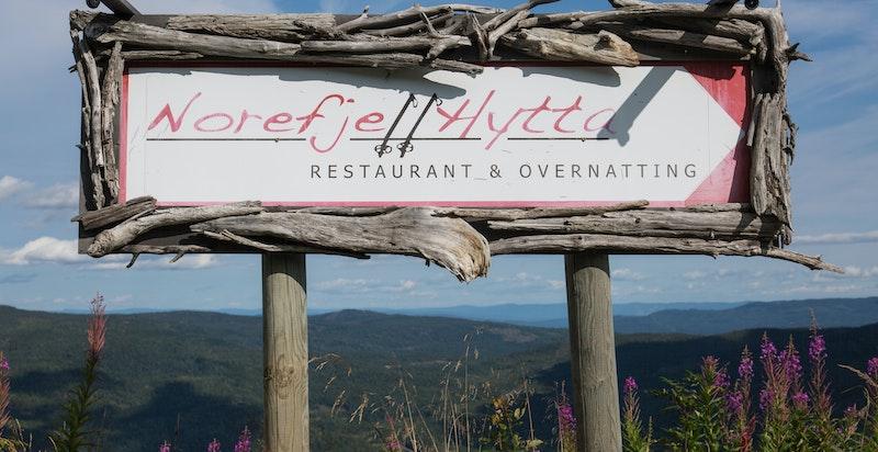 Nydelig mat serveres på Norefjellhytta