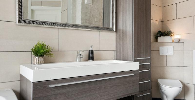 Alle badene er av nyere dato og har gulvvarme.