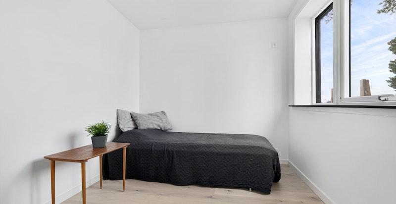 Alle soverommene er av god størrelse.