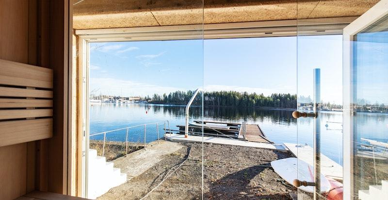 Fantastisk sjøbod med sauna.