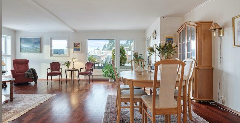 Stue/spisestue med utgang terrasse