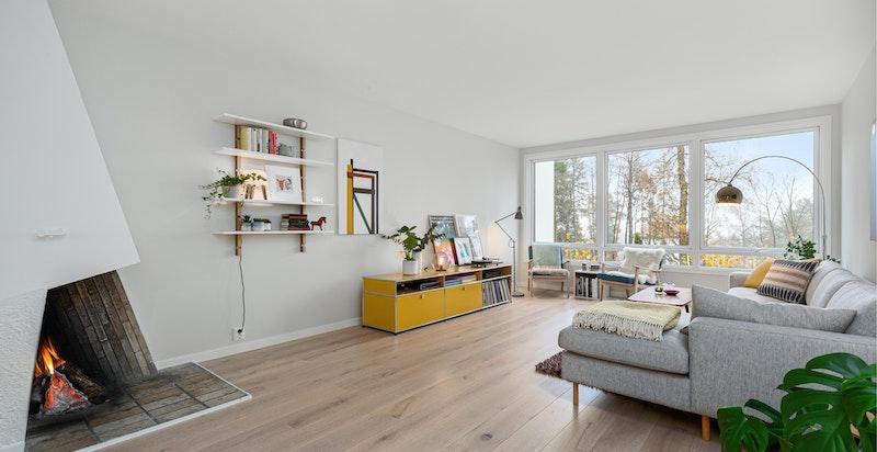 Stue med gulvvarme
