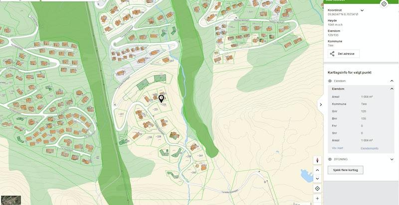 Toreskyrkjavegen 229 & 231 i nærområdet
