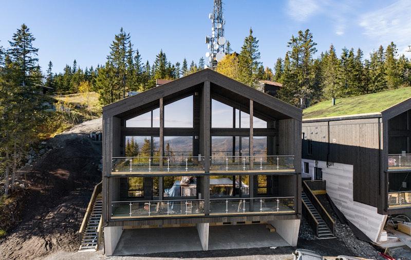 Fasade høst 2020, av prosjektet dette er ikke hus B