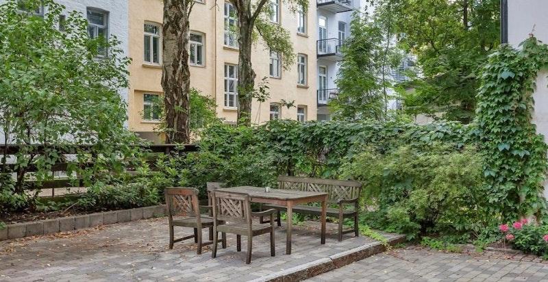 Eckersbergs gate - hyggelig bakgård