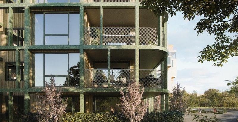 Ski Tårn av A-lab arkitekter. Illustrasjon.