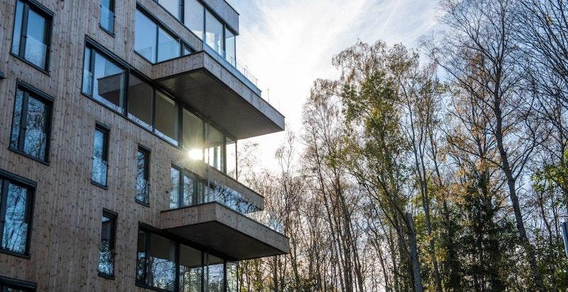 Ski Tårn av Code, ferdigstilte boliger i Magasinparken. Visningsbolig for prosjektet er nå i dette lekre tårnbygget.