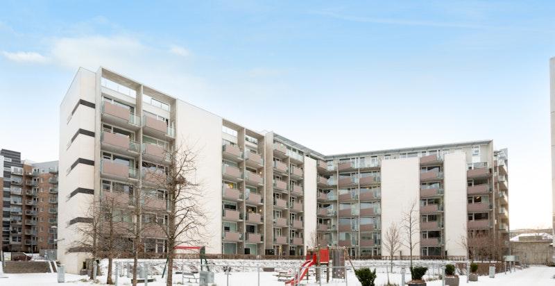 Gunnar Schjelderups vei er en attraktiv adresse i Nydalen.