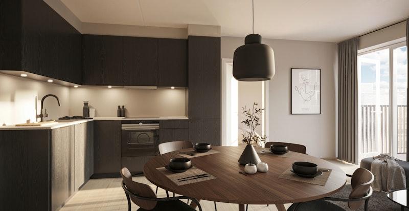 B1601 Kjøkken i Nordisk Mørk.