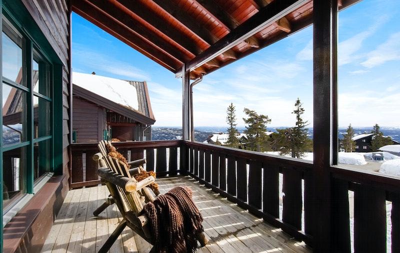 Herlig terrasse med super utsikt