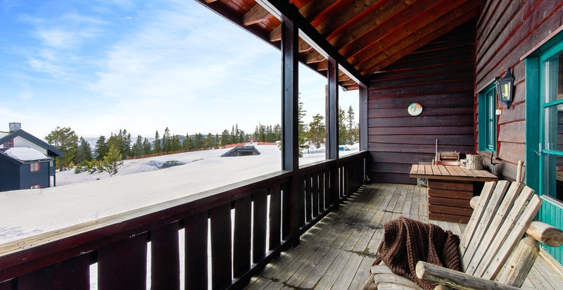Overbygget veranda