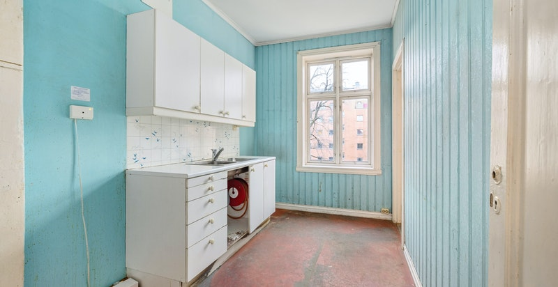 Separat kjøkken mot bakgård