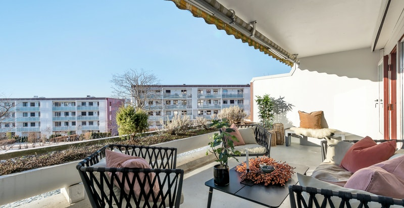 Sydvestvendt terrasse på 17 kvm.