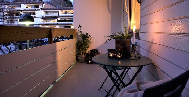 Kveldsstemning terrasse.