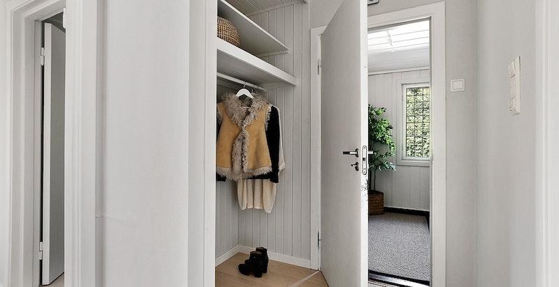 Hall med garderobe