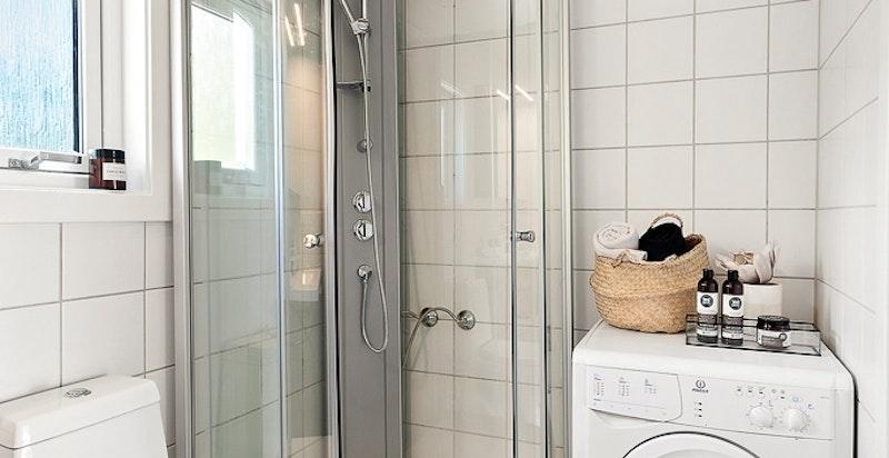 Plass til vaskemaskin/tørketrommel på badet