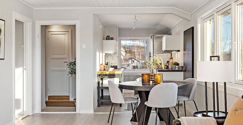 Åpen stue/kjøkken-løsning