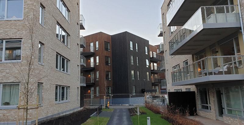 Hus E ligger inn mot Bergerløkka (JM)