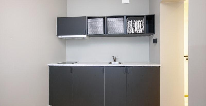Moderne og enkelt kjøkken på hybel