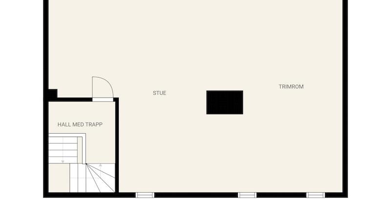 Loftet ble innredet i år 2000 og har røropplegg for fremtidig bad (over badet 2.etg.). Ingen rom på loft er p.t. godkjent til varig opphold.