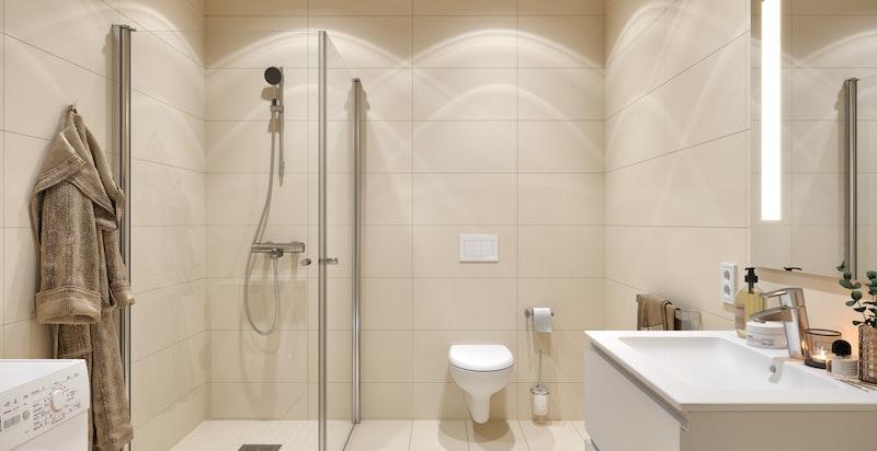 Eksempel på bad - ikke identisk med det som er i leiligheten