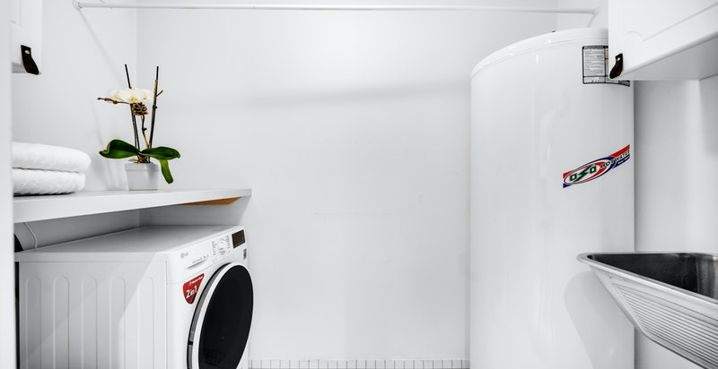 Vaskerom med varmekabler i gulv